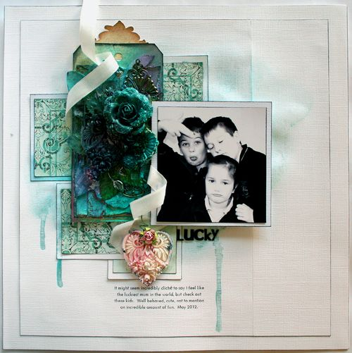 Layout with Mixed Media Happy Grunge