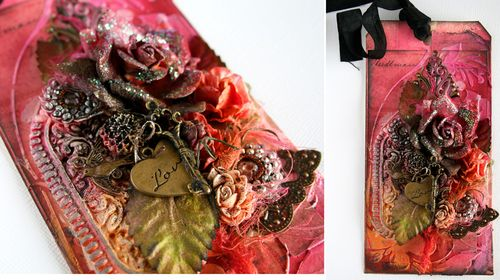 Mixed Media 'Happy Grunge' tag