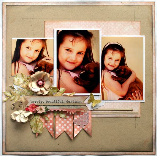 Lovely beautiful darling.  (Layout from my Flower Frenzy Kit)